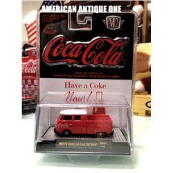 2019 USA Coca-Cola minicar 1960 model Volkswagen double cab truck USA model