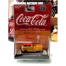 2019 USA Coca-Cola minicar 1959 model Volkswagen double cab truck USA model