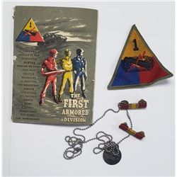 Vintage First Armored Division Lot - Patch/Book/Ri