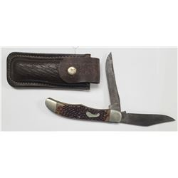 Vintage Frontier 2 Blade Folding Hunting Knife W/S