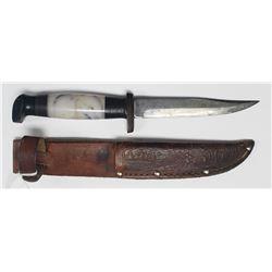 Vintage Hand Made Hunting Knife W/Sheath!