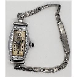 Vintage Ladies Bulova Wrist Watch! - 14k White GF