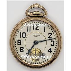 Vintage Waltham Riverside Pocket Watch - 21 Jewels