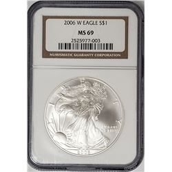 2006 W American Silver Eagle NGC MS69