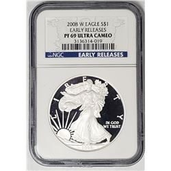 2008 W Silver Eagle Early Releases PF69 Ultra