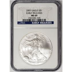 2007 P American Silver Eagle Early Releases NGC