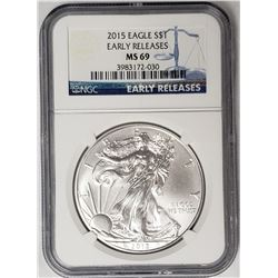 2015 American Silver Eagle Early Releases NGC