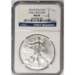 2014 American Silver Eagle Early Releases NGC
