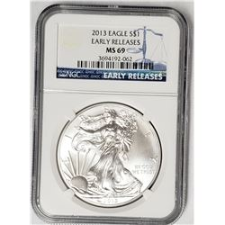 2013 American Silver Eagle Ealry Releases NGC