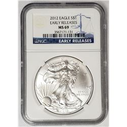 2012 American Silver Eagle Early Releases NGC