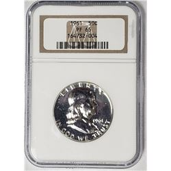 1961 Franklin Half Dollar NGC PF65