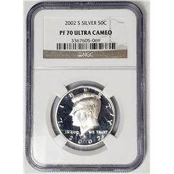 2002 S Silver Kennedy Half Dollar NGC PF70 Ultra