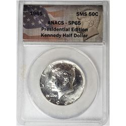 1965 Kennedy Half Dollar Pres. Edition ANACS SP65