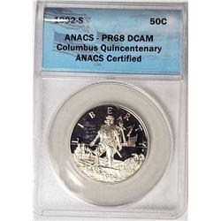 1992 S Columbus Quincentenary Half Dollar ANACS PR