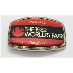 Vintage 1982 World's Fair Belt Buckle Knoxville Te