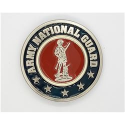 Metal & Enamel Army National Guard Belt Buckle