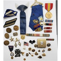 WWII Verteran Lot 3rd Infantry, Pins, Ribbons, Med