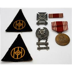 WWII 83rd Infantry Division Patches, Sterling Badg
