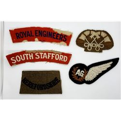 Rare WWII British Royal Airforce Lot Patches