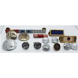 Korean War Lot - Ribbon Bars, Buttons, Cuff Links