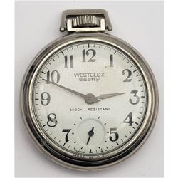 "Vintage Westclox ""Scotty"" Pocket Watch"