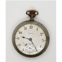 ELGIN G W WHEELER OPEN FACE POCKET WATCH