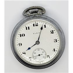 1918 ELGIN OPEN FACE POCKET WATCH