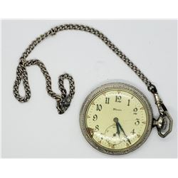 ILLINOIS OPEN FACE POCKET WATCH