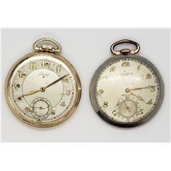 GRUEN & LANCET OPEN FACE POCKET WATCHES