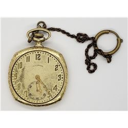 ILLINOIS 18k GOLD FILLED POCKET WATCH