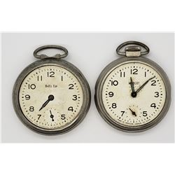 2-WESTCLOX POCKET WATCHES FOR PARTS