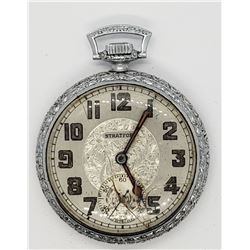 STRATFORD OPEN FACE POCKET WATCH