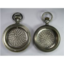 2-DUEBER SILVERINE POCKET WATCH CASES