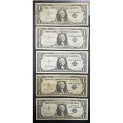 5 STAR NOTES $1 SILVER CERTIFICATES
