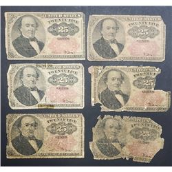 6 1874 25c FRACTIONAL NOTES