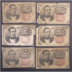6 1874 10c FRACTIONAL NOTES