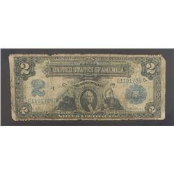 1899 $2 SILVER CERTIFICATE NOTE