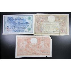3-LARGE SIZE FOREIGN NOTES