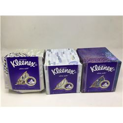 Kleenex Ultra Soft 3-Ply Tissues Pack Lot of 3