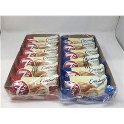7 Days Croissant Vanilla Cream and Cocoa Filling Lot of 2