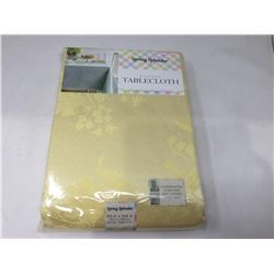 Spring Splendor Damask Tablecloth- Yellow (60in x 144in)