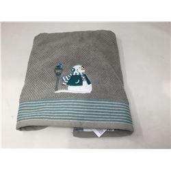 Grey Snowman Hand Towel