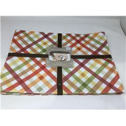Autumn Gingham Pritned Placemats (4 x 13in x 18in)