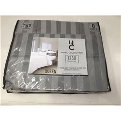 Hotel Collection- 6 Piece Cotton Rich Queen Sheet Set (Grey)