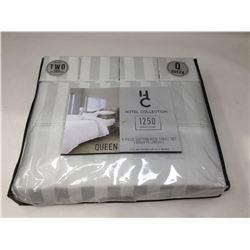 Hotel Collection- 6 Piece Cotton Rich Queen Sheet Set (White)