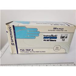 Box of 100 Size Small Sperian Disposable Tri-Polymer Gloves - Expired