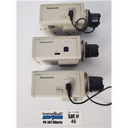 Lot of 3 Panasonic WV-BP134 CCTV Security Cameras