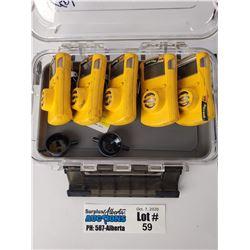 Lot of 5 Gas Clip Technologies H2S Gas Detectors