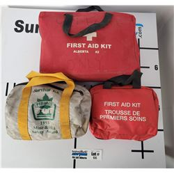 Lot of 3 First Aid Kits in Travel Cases