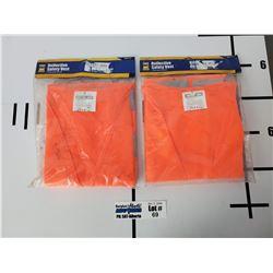 Lot of 2 Power Fist Refelctive Safety Vests